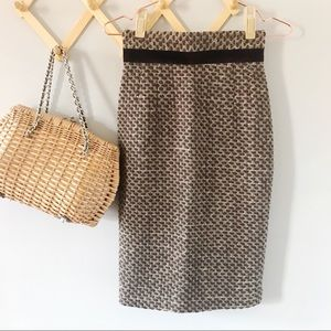 ANTHRO Plenty by Tracy Reese Wool Pencil Skirt